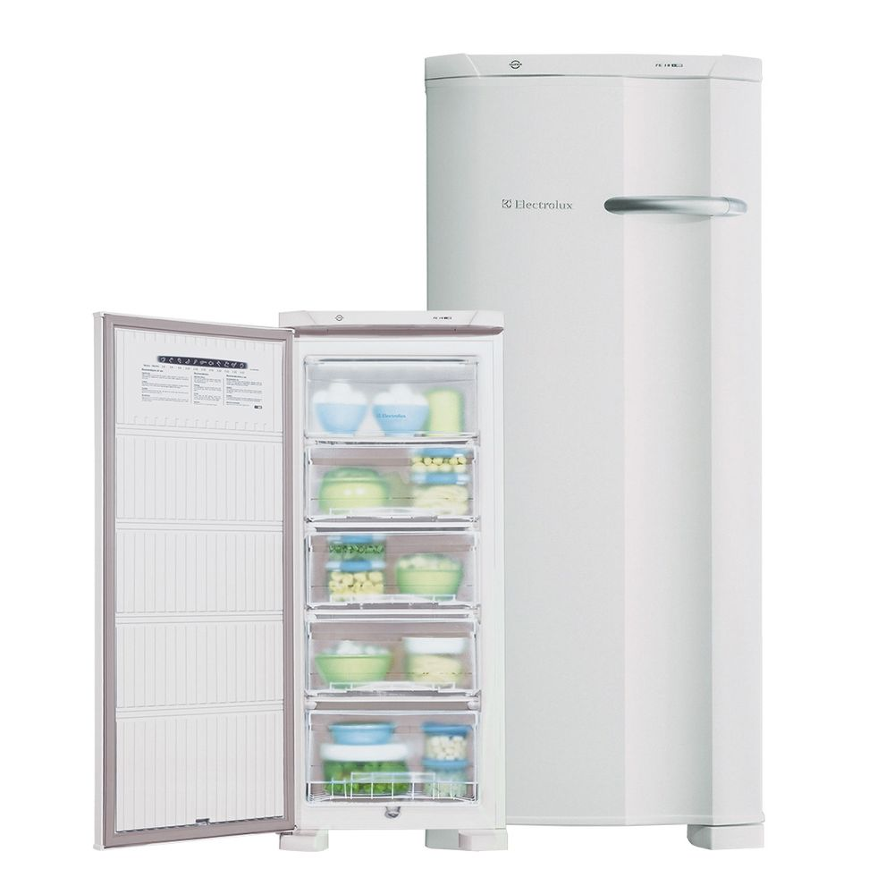 Freezer vertical electrolux fe18 145 litros cycle - Temperatura freezer casa ...