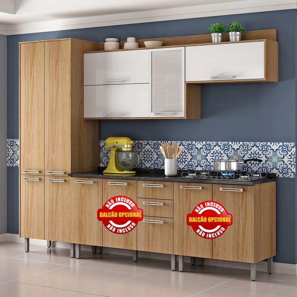 Cozinha De Madeira Audace Com 3 Pe As Itatiaia Moveis Simonetti
