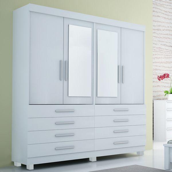 Guarda roupa quatro portas com gaveta - Móveis Simonetti