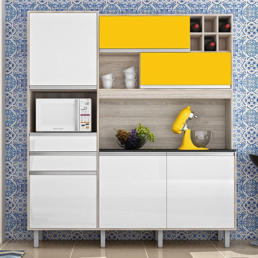 Cozinha Loft Nesher 6 Portas Gavetas Com Corredi As Telesc Picas