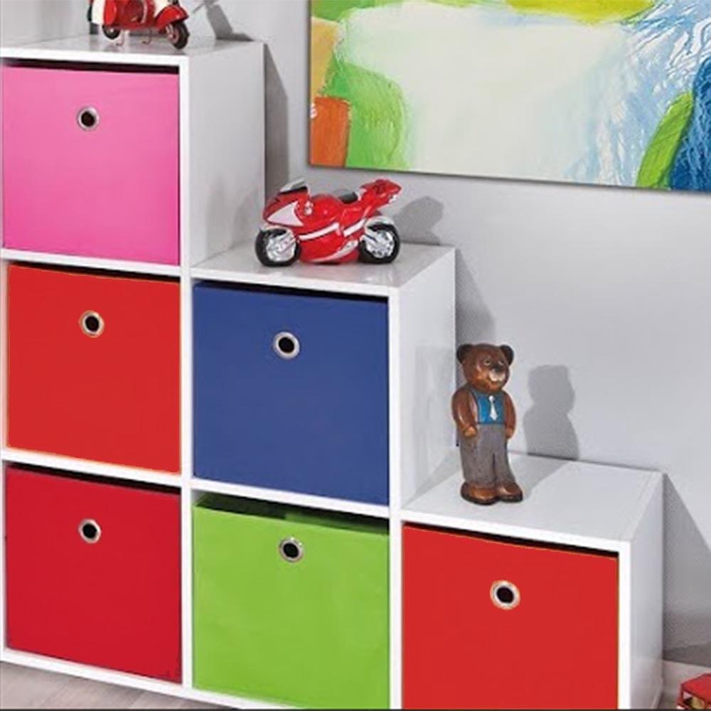 Estante Para Quarto Infantil Com 6 Nichos 6 Caixas Organizadoras  ~ Decoração De Quarto Infantil Com Nichos E Prateleiras