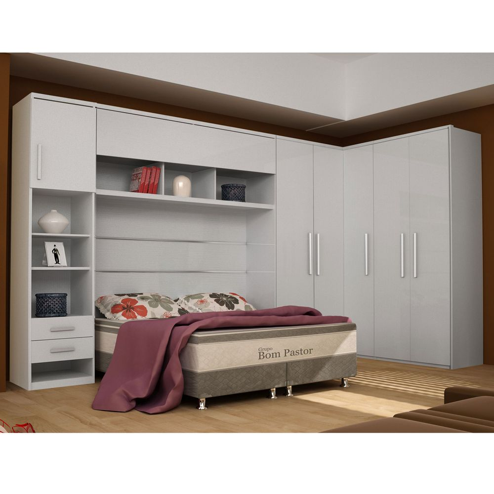 Roupeiro Guarda Roupa Dormitório Modulado Gold 5 Módulos 100 Mdf Bom Pastor