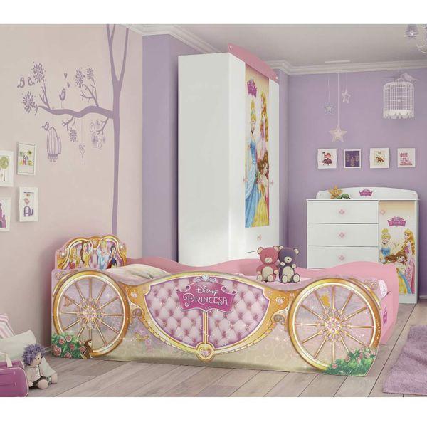 8089797902 Cama Infantil Princesas Disney Star Rosa - Pura Magia - Moveis Simonetti