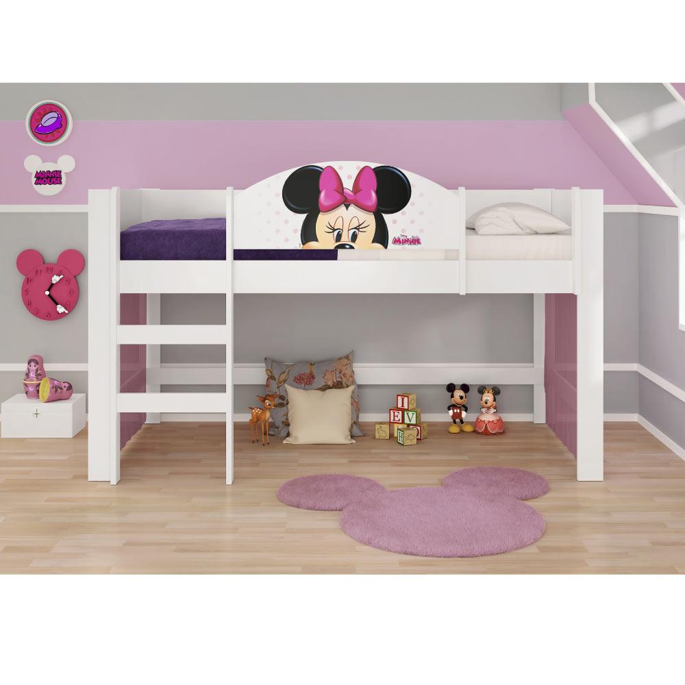 6ce9dda35b Cama Alta Infantil Minnie Disney Play com Cortina - Pura Magia. sem  montagem. image-4cc11a8f4a854686a033878e704c974a