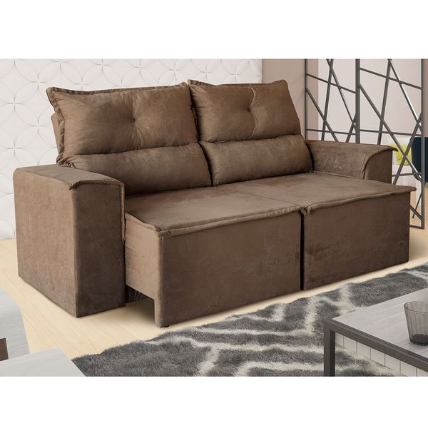 Stupendous Sofa Estofado 3 Lugares Retratil E Reclinavel Roma Machost Co Dining Chair Design Ideas Machostcouk